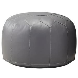 faux-leather-pouf-grey