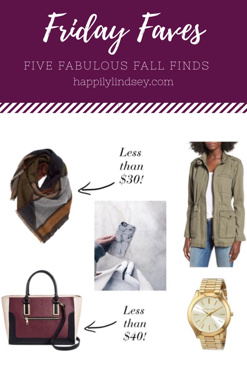Friday Faves / Five Fabulous Fall Finds