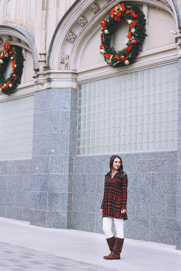 Easy and Festive Holiday Outfit // Happily Lindsey Blog